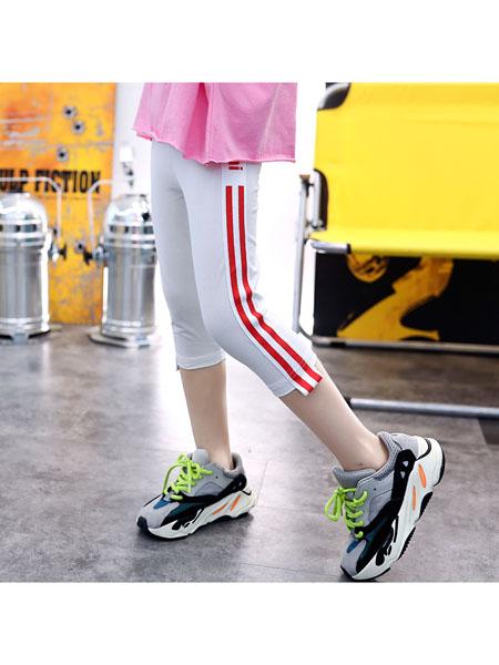 魔豆小熊童装品牌2020春夏童裤新韩版儿童弹力修身小脚裤女童洋气七分裤潮