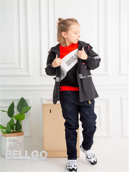 BELLGO KIDS贝力高童装品牌2020春夏外套黑色