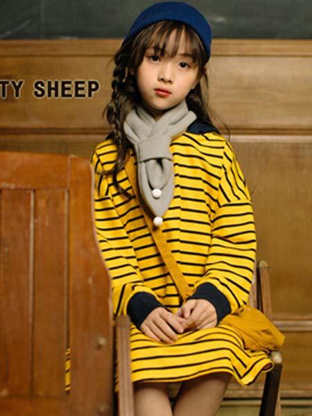 贝蒂小羊童装品牌2020春夏连衣裙时尚长袖T恤
