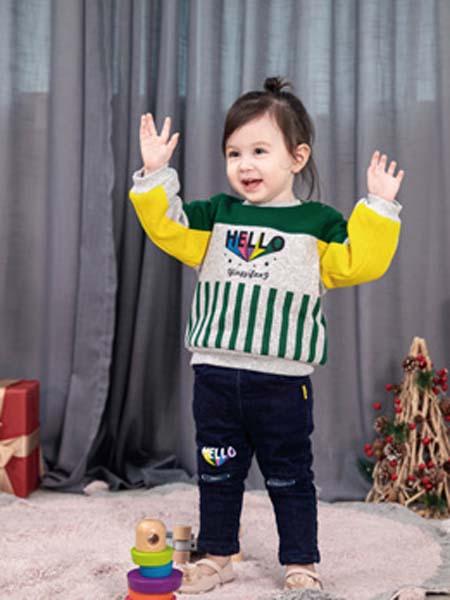 婴姿坊yingzifan童装品牌2020春夏卫衣无帽