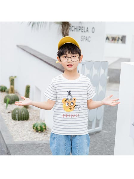 Chocolate Smile童装品牌2020春夏新款亲子装短袖家庭装宽松T恤亲子装