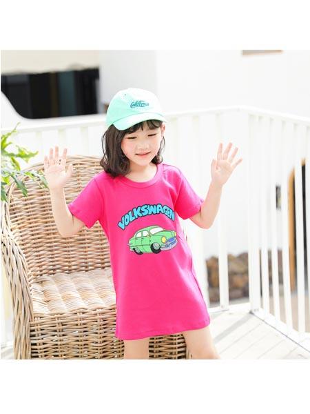 Chocolate Smile童装品牌2020春夏韩国新款亲子短袖一家三口潮童装T恤
