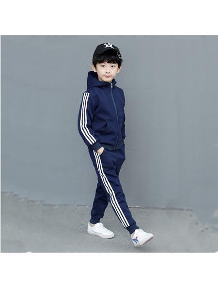 沐沨童装品牌2020春夏款韩版洋气中大儿童男孩连帽春季装上衣潮男童装卫衣