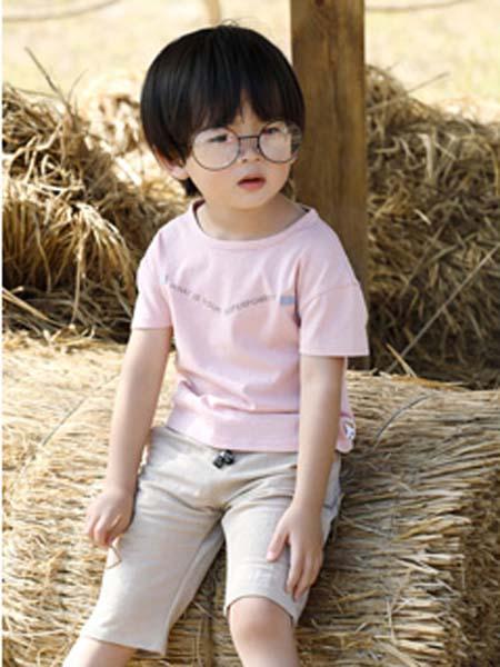 班吉鹿banjilu童装品牌2020春夏T恤粉色男童