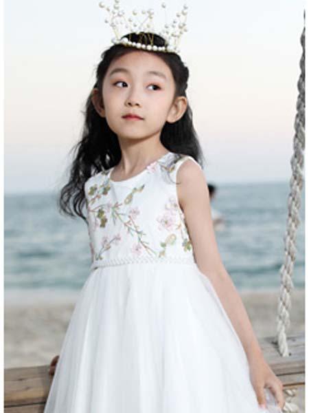 班吉鹿banjilu童装品牌2020春夏公主裙白色