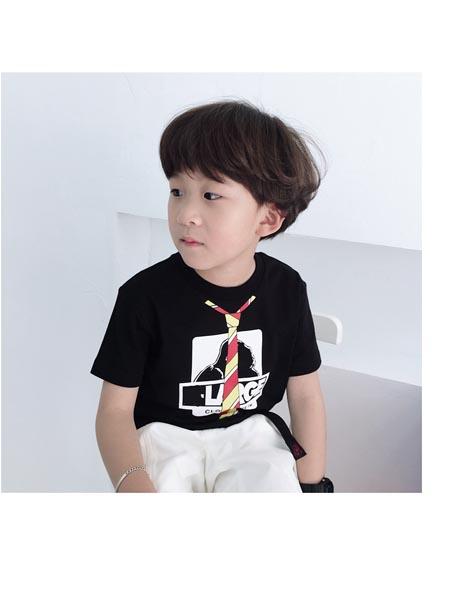 可可小派童装品牌2020春夏男童女童宝宝日系潮牌童装高端 金刚口袋印花儿童t恤
