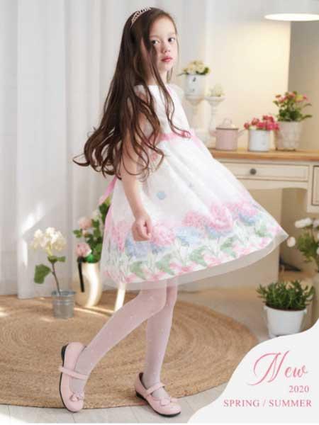 安妮公主童装品牌2020春夏无袖网纱连衣裙