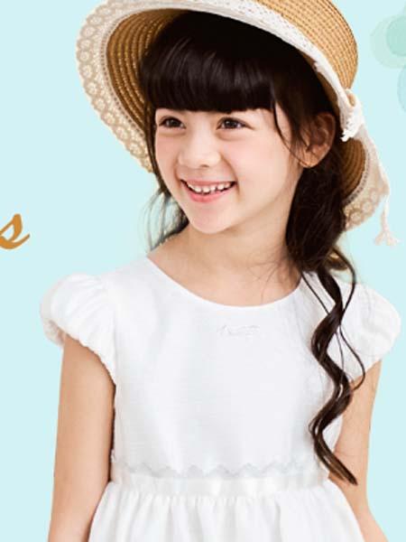安妮公主童装品牌2020春夏白色连衣裙公主裙