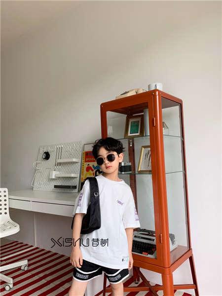 拉酷儿童装品牌2020春夏白体恤