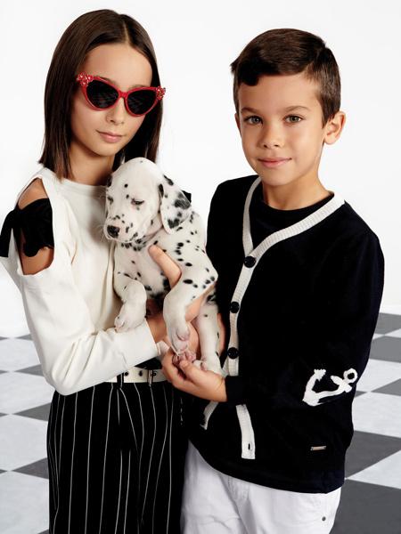 Monnalisa童装品牌2020春夏时尚露肩上衣