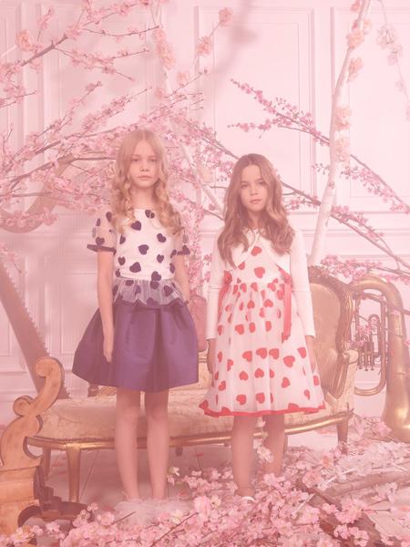 Monnalisa童装品牌2020春夏时尚爱心图案裙子