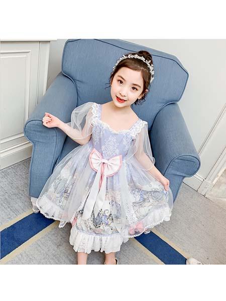 梵夕童装品牌2020春夏新款儿童裙子中大童洛丽塔公主裙连衣裙潮