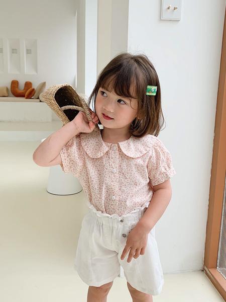 临沂沐童童装品牌2020春夏女童甜美衬衣套装