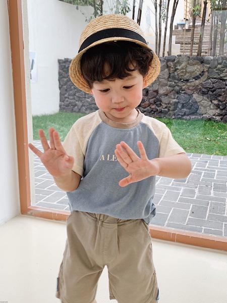 临沂沐童童装品牌2020春夏纯棉印花短袖