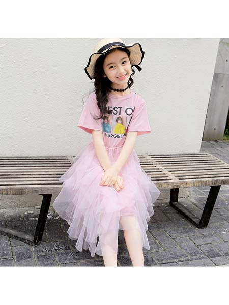 YC·Kids童装品牌2020春夏新款短袖仙女连衣裙 中大童公主风潮范