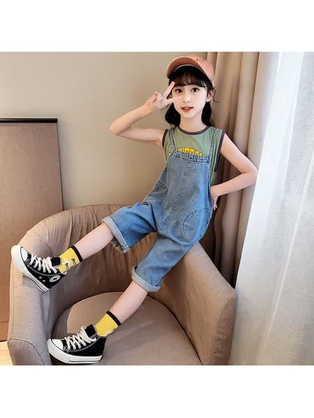 YC·Kids童装品牌2020春夏背带裤套装 正反两穿中大童运动潮范韩版连衣T恤 时尚酷
