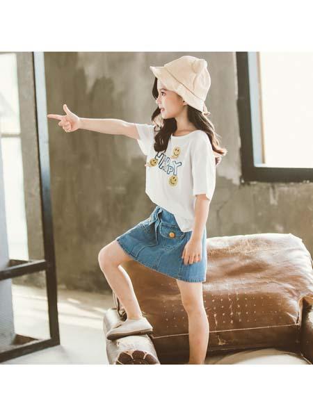 YC·Kids童装品牌2020春夏新款套装 百搭牛仔套裙短袖T恤 潮范