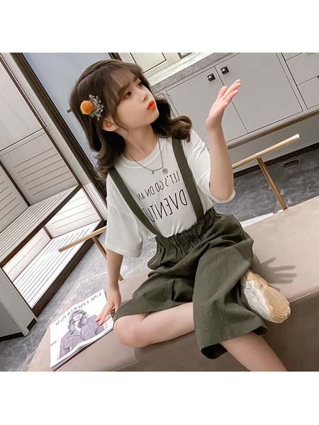 YC·Kids童装品牌2020春夏时尚舒适短袖七分裤套装