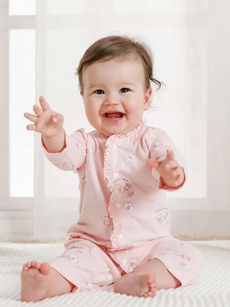 卓儿童装品牌2020春夏长袖浅粉色家居服空调服