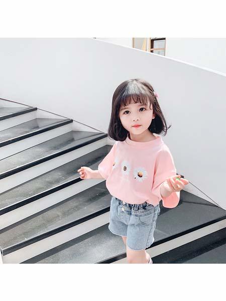 可咘童装品牌2020春夏纯棉印花T恤套装
