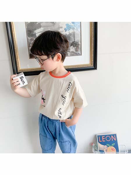 可咘童装品牌2020春夏纯棉T恤男童短袖套装