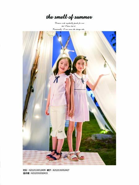 德蒙斯特童装品牌2020春夏蝴蝶结圆领衬衫无袖同款连衣裙