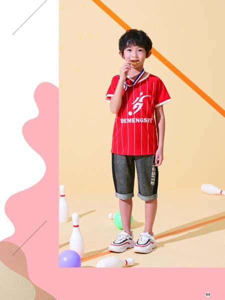 德蒙斯特童装品牌2020春夏红色T恤