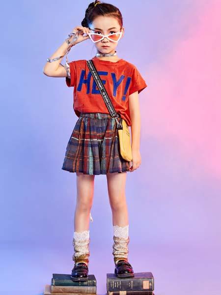 寵來寵趣童裝品牌2020春夏字母紅色T恤短裙