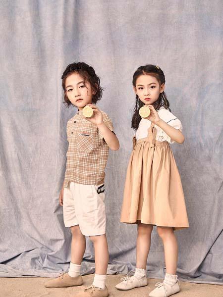 寵來寵趣童裝品牌2020春夏格紋襯衫白色短褲男童女童