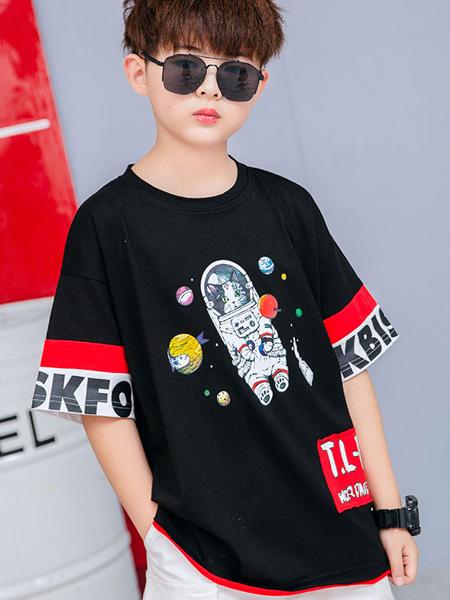 焯超童装品牌2020春夏宝宝夏装上衣中大童韩版洋气潮