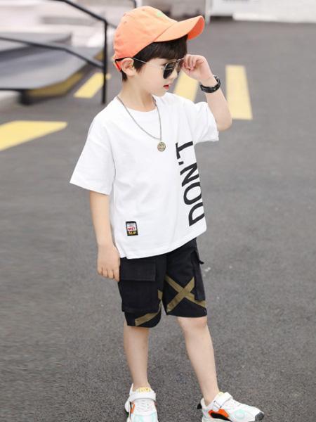 焯超童装品牌2020春夏新款潮中大童韩版两件套帅气男孩夏季短袖