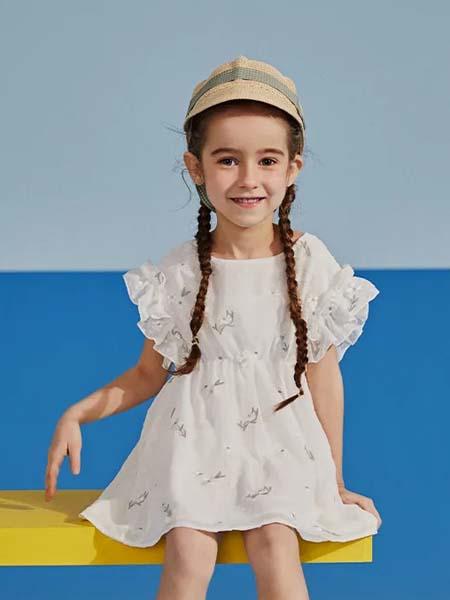 gxg.kids童装品牌2020春夏花边白色连衣裙