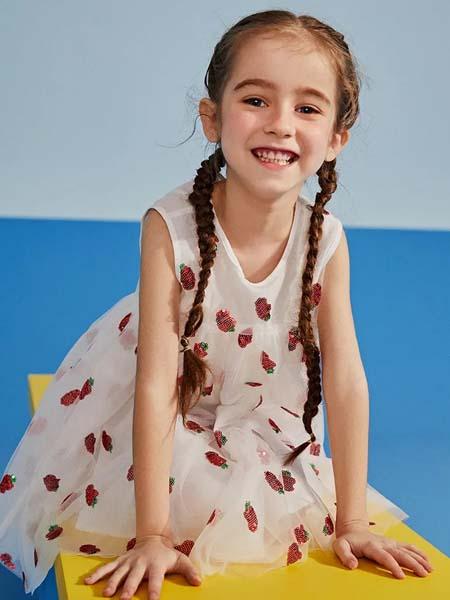 gxg.kids童装品牌2020春夏无袖白色连衣裙