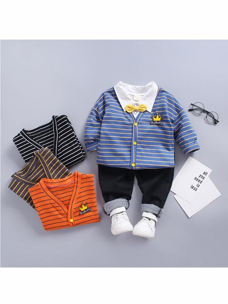 依霓童装品牌2020春夏三件套男童中小童春装宝宝套装女童长袖套装