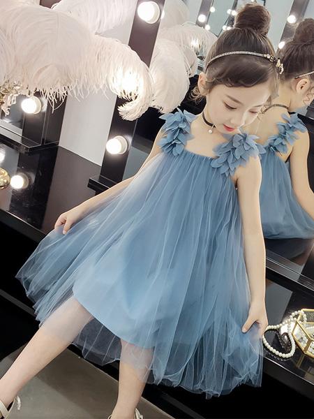 一米阳光童装品牌2020春夏新款洋气童装韩版纱裙儿童裙子夏公主裙蓬蓬纱