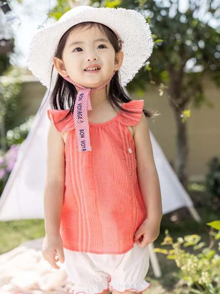 阿卡邦童装品牌2020春夏橘粉色上衣