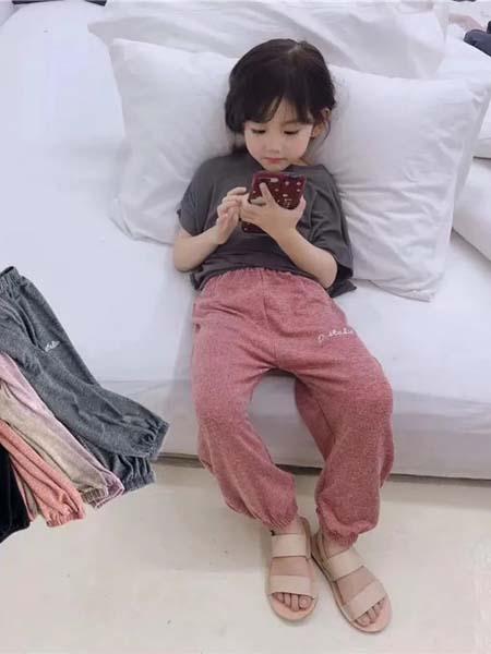 班比奇童装品牌2020春夏粉色长裤