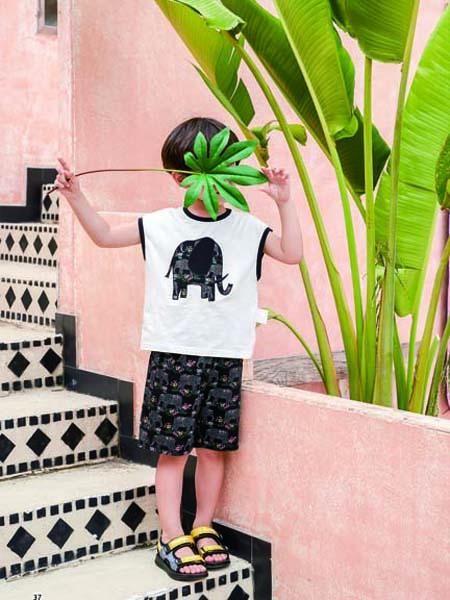 德蒙斯特童装品牌2020春夏无袖大象T恤