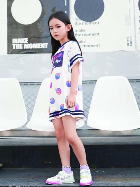 德蒙斯特童装品牌2020春夏无袖连衣裙