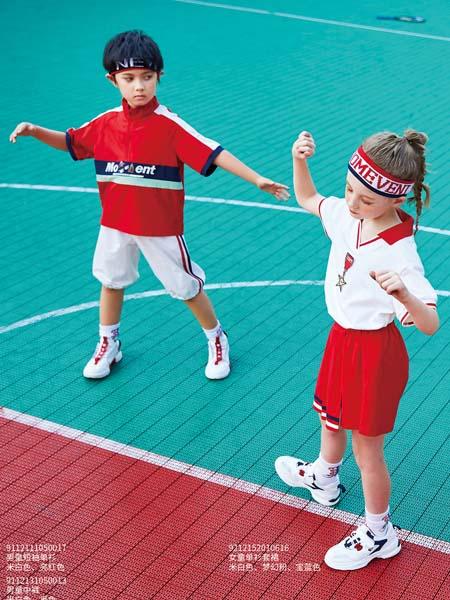 卡儿菲特童装品牌2020春夏红色T恤运动短裙男女童