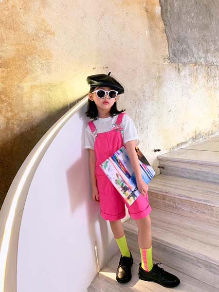 安墨Anmo2020春夏粉色背带裤