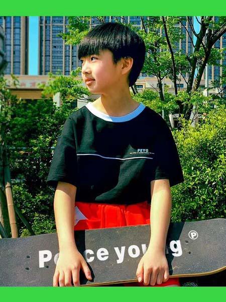贝甜童装品牌2020春夏青色T恤
