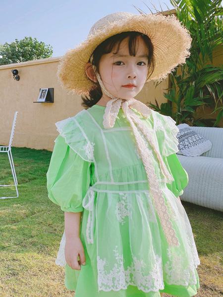 麦田季童装品牌2020春夏新款韩国童装女童蕾丝花朵刺绣罩衫镂空背心上衣T恤