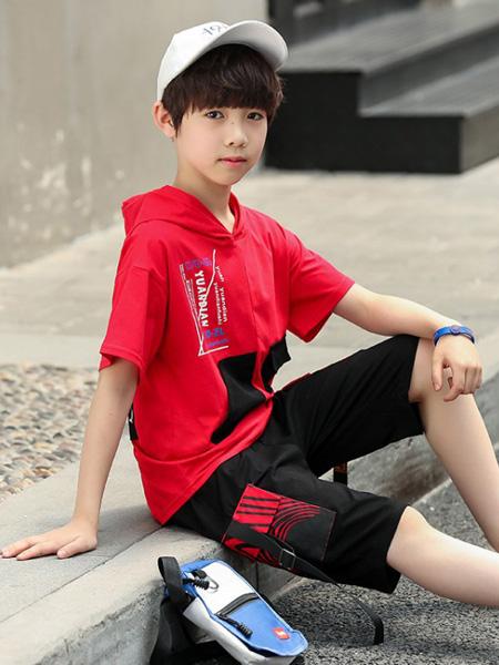 金鱼童装品牌2020春夏童装新款男童爆款休闲两件套套装