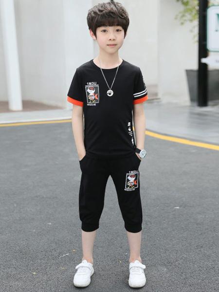 金鱼童装品牌2020春夏新款夏季童装韩版中大童儿童短袖两件套