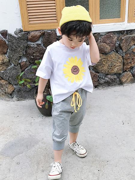 蒋平华童装品牌2020春夏儿童小雏菊短袖套装韩版中小童时尚洋气纯棉两件套