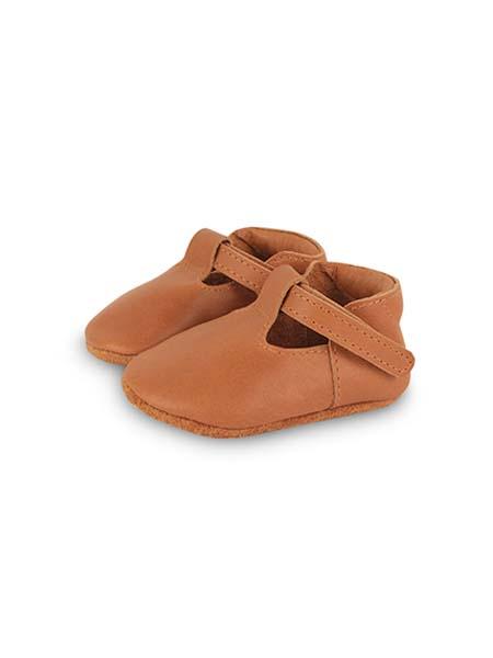 DONSJE童鞋品牌春夏纯色简约棕色皮鞋