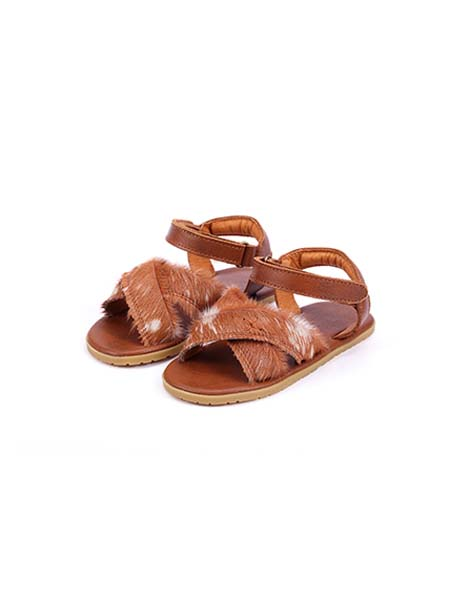 DONSJE童鞋品牌春夏棕色凉鞋