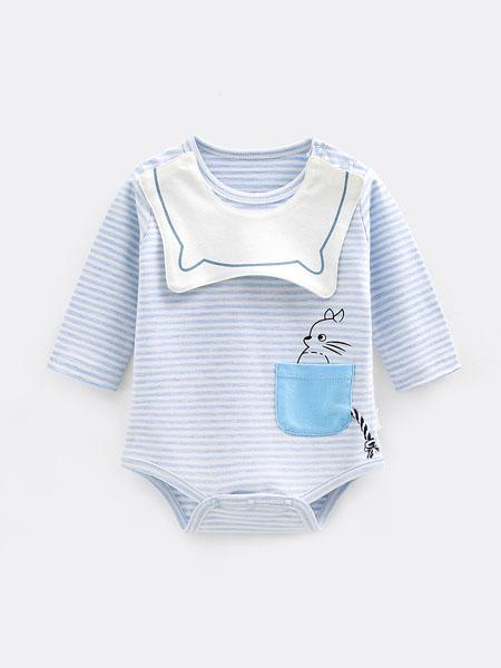 七贝乐童装品牌2020春夏新生婴儿连体衣服男女宝宝短袖夏季纯棉哈衣网红可爱超萌薄款