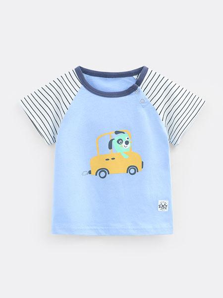 七贝乐童装品牌2020春夏男童T恤宝宝上衣夏装纯棉4婴儿衣服1女童短袖t恤3岁儿童体恤